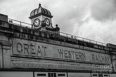 Photograph - Cardiff Central Station Mono by Steve Purnell