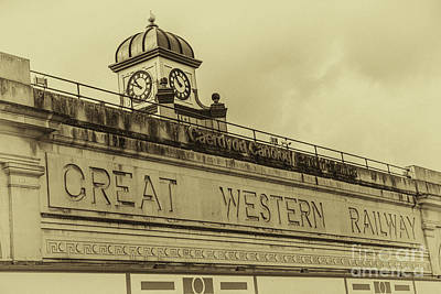 Photograph - Cardiff Central Station Vintage by Steve Purnell