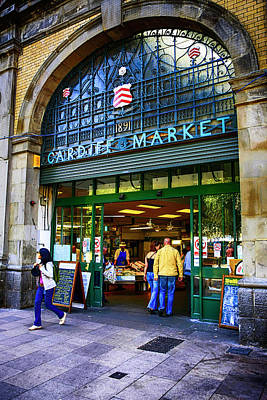 Photograph - Cardiff City Market Wales by Chris Smith