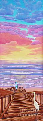 Cardiff Sunset Art Print