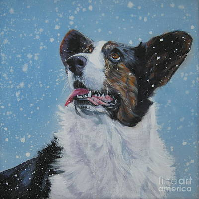 Painting - Cardigan Welsh Corgi In Snow by Lee Ann Shepard