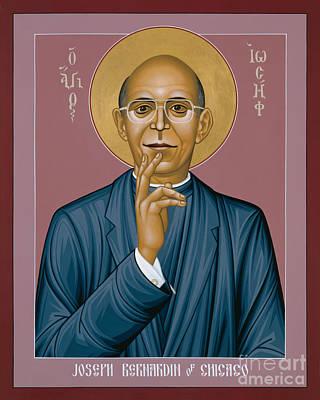 Painting - Cardinal Bernardin Of Chicago - Rlcbn by Br Robert Lentz OFM