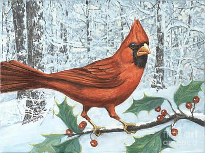 Cardinal Bird Original