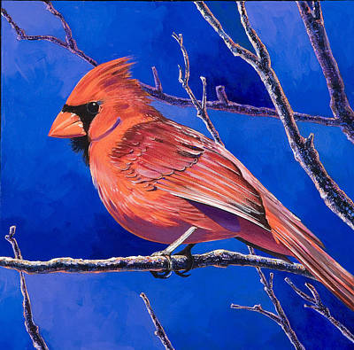 Abstract Realism Painting - Cardinal by Bob Coonts