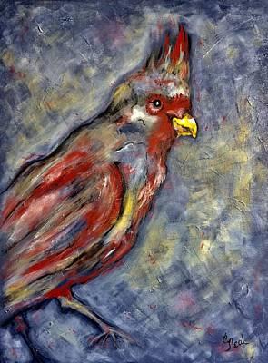 Painting - Cardinal Extraodinaire by Carol Neal