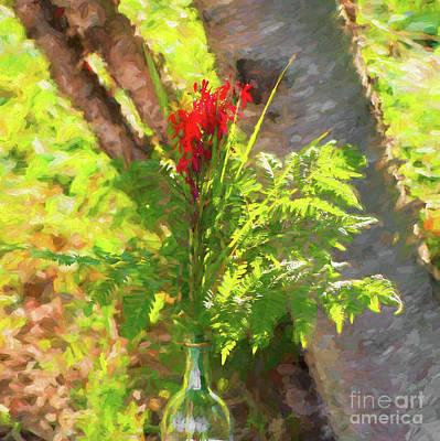 Digital Art - Cardinal Flowers by Les Palenik