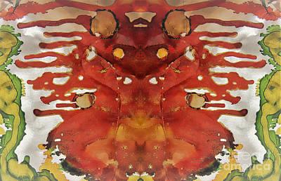 Mixed Media - Cardinal Intesity by Jolanta Anna Karolska