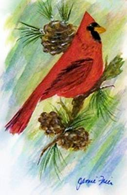 Painting - Cardinal by Jamie Frier