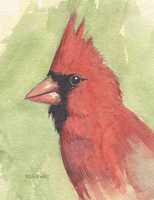 Painting - Cardinal by John Holdway