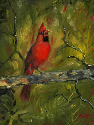 Cardinal Art Print by Liz Rose