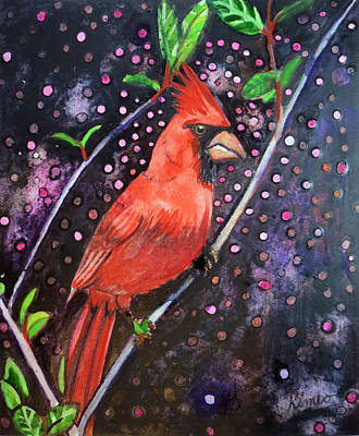 Painting - Cardinal Magic by Kimbo Jackson