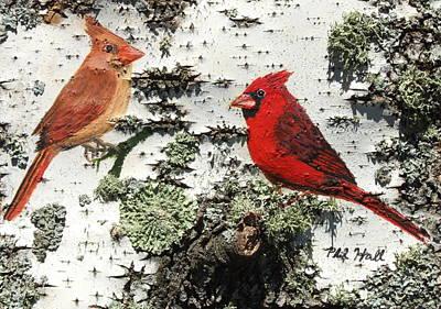 Cardinal Pair II Art Print by Philip Hall