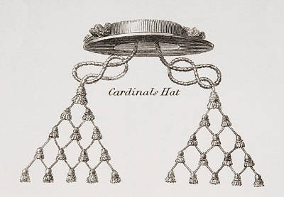 Cardinal Drawing - Cardinal S Hat. From The Cyclopaedia Or by Vintage Design Pics