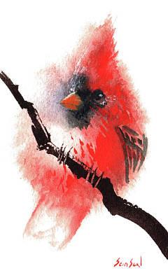 Painting - Cardinal by Sean Seal