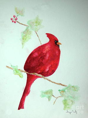 Painting - Cardinal by Tamyra Crossley