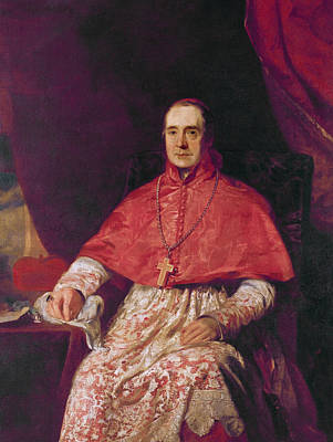 Welded Painting - Cardinal Thomas Weld by Andrew Geddes