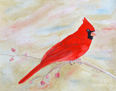 Painting - Cardinal Watching by Laurel Best