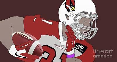 Cardinals Football Art Print