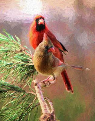 Photograph - Cardinals2 by John Freidenberg