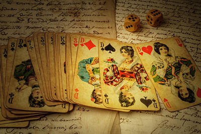 Cards And Dice Art Print