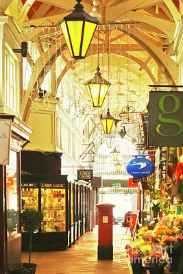Photograph - Cards And Flowers Oxford Covered Market by Terri Waters