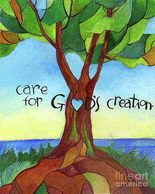 Painting - Care For Gods Creation - Mmcgc by Br Mickey McGrath OSFS
