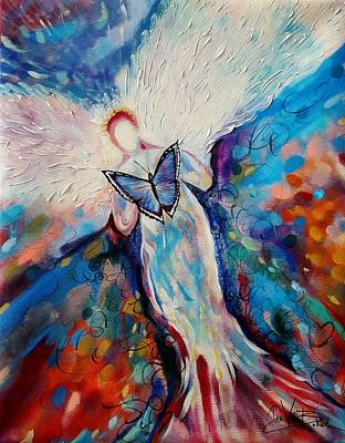 Painting - Care Of The Butterfly  by Jan VonBokel