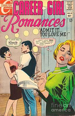 Drawing - Career Girl Romance by R Muirhead Art