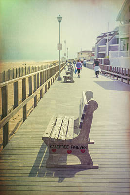 Photograph - Carefree Forever Point Pleasant Boardwalk Nj Vintage V by Terry DeLuco