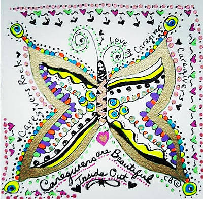 Drawing - Spread Your Wings by Carole Brecht