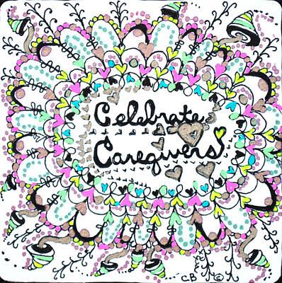 Drawing - Caregiver Celebration by Carole Brecht