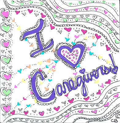 Drawing - Caring Heart by Carole Brecht