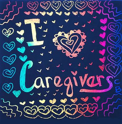 Caregiver Rainbow Art Print