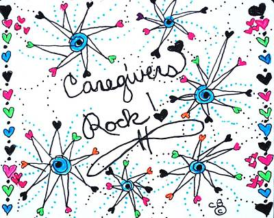Drawing - Caregivers Rock by Carole Brecht
