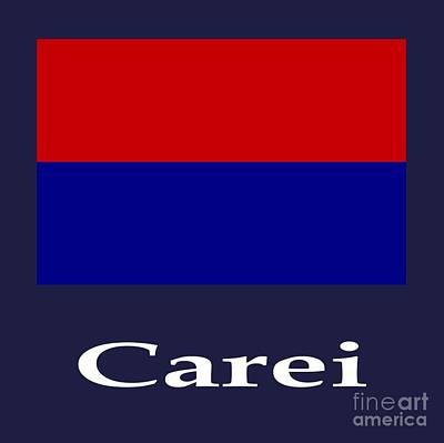 Romania Mixed Media - Carei, Romania Flag And Name by Frederick Holiday