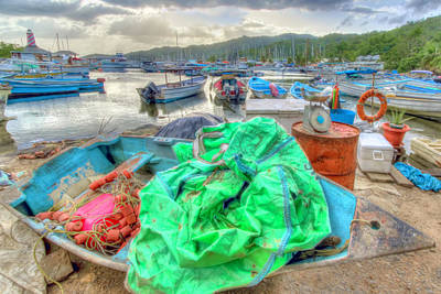 Photograph - Carenage Fishing Boats by Nadia Sanowar