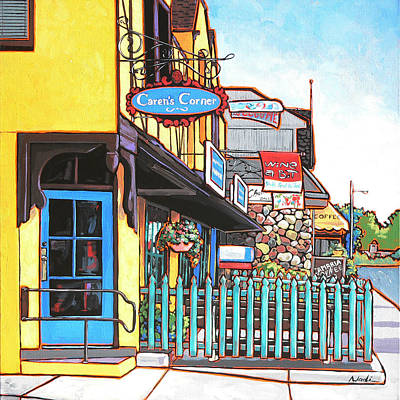 Caren's Corner Art Print by Nadi Spencer