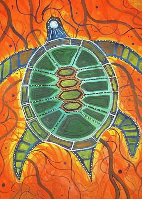 Caretta Caretta Art Print by Scott Harrington