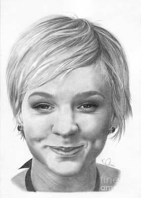 Drawing - Carey Mulligan by Karen Townsend