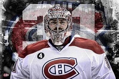 Montreal Canadiens Digital Art - Carey Price Artwork by Nicholas Legault