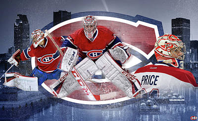 Canadiens Digital Art - Carey Price Mural by Nicholas Legault