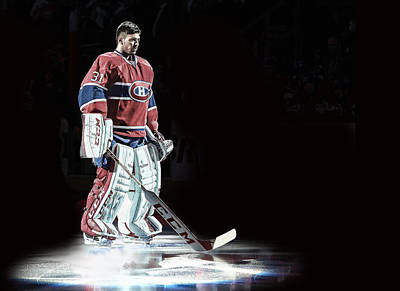 Canadiens Digital Art - Carey Price Spotlight by Nicholas Legault