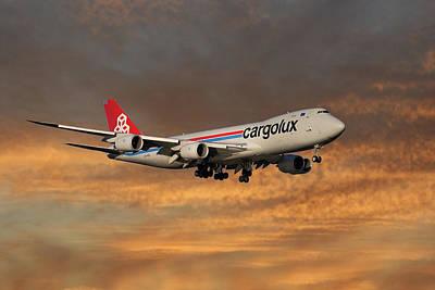 Cargolux Boeing 747-8r7 3 Art Print