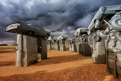Photograph - Carhenge 2 by CA Johnson