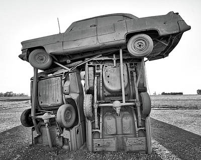 Photograph - Carhenge 3 by Jim Hughes