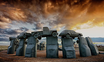 Photograph - Carhenge by CA Johnson