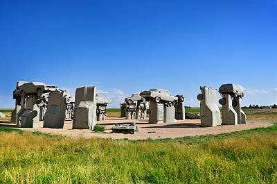 Installation Art Photograph - Carhenge by Edwin Verin