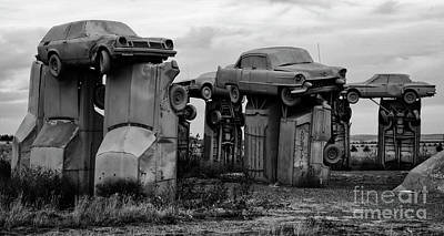 Photograph - Carhenge Nebraska 16 by Bob Christopher