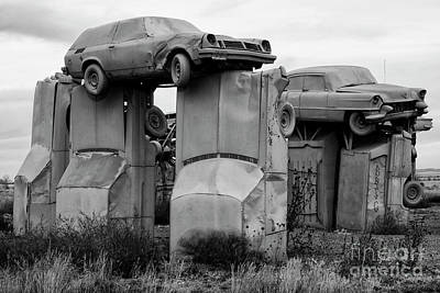 Photograph - Carhenge Nebraska 19 by Bob Christopher