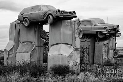 Found Art Photograph - Carhenge Nebraska 19 by Bob Christopher